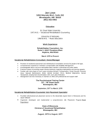 Professional Vocational Rehabilitation Counselor Resume