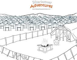 Free Bible Coloring Page Tabernacle In The Wilderness Tabernacle