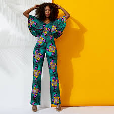 Traditional Jumpsuit Designs Us 42 41 15 Off African Jumpsuit For Women New Style 2019 African Print Wax Cotton Material Off Shoulder Jumpsuit African Traditional Clothes In