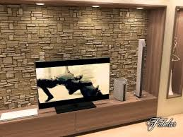 Small Picture 3D Model of Living Room Scene With Rock Wall 17 YouTube