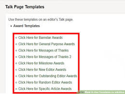 3 Ways To Use Templates On Wikihow Wikihow