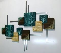 square metal wall decor teal metal wall decor new huge teal brown contemporary abstract wood and  on brown and teal metal wall art with square metal wall decor square flower metal wall decor large square
