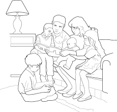 Small Picture Family Prayer At Lds Coloring Pages esonme