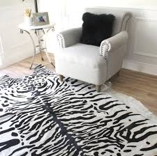 decorating with black and white snow tiger floor rug