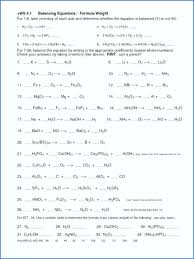 balancing chemical equations worksheet grade unique writing answers worksheets for all balance the following 1