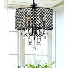 imposing silver mist hanging crystal drum shade chandelier by inspire q classic picture inspirations