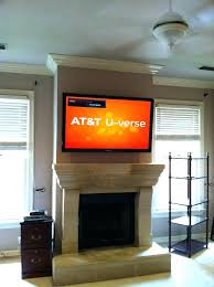 tv above stone fireplace how to mount a above a fireplace mount on stacked stone fireplace