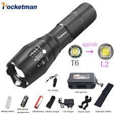 Pocketman <b>LED Flashlight</b> 18650 torch waterproof <b>rechargeable</b> XM ...