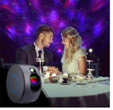 Night Lights <b>Laser Galaxy Starry Sky</b> Projector Rotating Water ...
