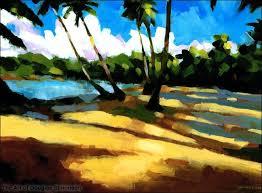 playa bonita 2 painting of a dominican republic beach by douglas simonson