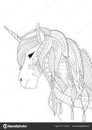 Illustrazione Unicorni Disegno Facile Arte Linea Semplice Unicorno