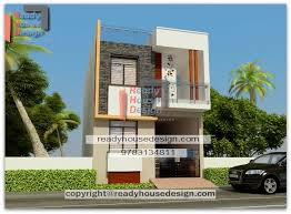 front elevation of duplex house in 700