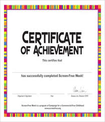 Certificate Of Achievement Templates Free Simple 48 Certificate Of Achievement Templates Free Printable Word PDF