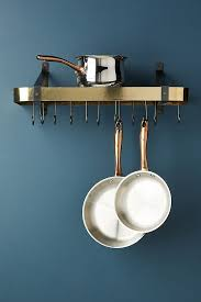 wall mounted pot rack modern pot racks