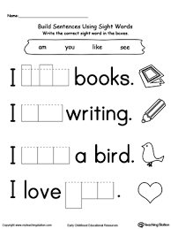 Kindergarten Sight Word Worksheets - WorksheetsSight Word Sheets Kindergarten K5 Worksheets