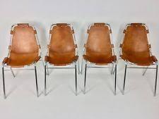 original les arcs chairs charlotte perriand set of 4 mid century