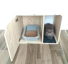 cat litter box wood wooden cover pet furniture house kitty