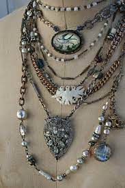 Vintage with a modern twist. http://www.relicsbytami.blogspot.com/ |  Vintage jewelry ideas, Mixed media jewelry, Jewelry