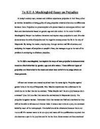 to kill a mockingbird essay on prejudice gcse english marked page 1 zoom in
