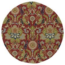 kaleen home and porch red round indoor outdoor handcrafted nature area rug common