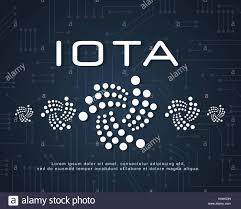 Iota Design Design Blockchain Iota Background Style Stock Vector Art