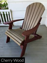 amish adirondack chairs lovely fan back amish all weather poly chair weatherwood on a