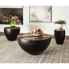 Scott Living Natural Wood Round Coffee Table