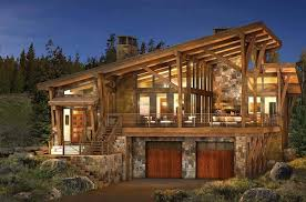 Modern Log And Timber Frame Homes And Plans By PrecisionCraft Beauteous Rustic Modern Home Design Plans