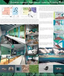 Дизайн проект коворкинг центра frosty mint Архитектура и  Дизайн проект коворкинг центра frosty mint МГУТУ им К