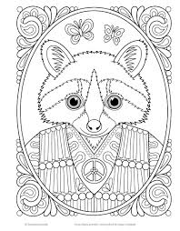 Hippie Animals Coloring Book Coloring Is Fun Amazon Co Uk
