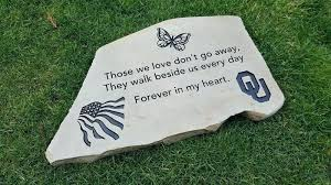 personalized garden rocks memorial