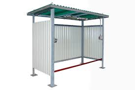 this corrugated fiberglass shed has removable lifting eyes and basic electrical services for a class i division 2 hazardous location the green roof