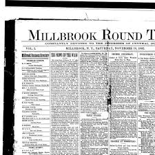 millbrook round table millbrook n y 1892 190 november 19 1892 page 1 image 1 nys historic newspapers