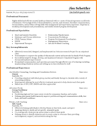 Resume Templates Life Coach A Good Resume Example