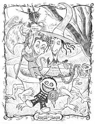 Small Picture nightmare before christmas coloring pages