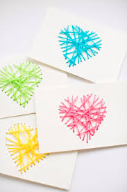 clever diys made with yarn string heart yarn cards yarn crafts to try