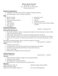 Child Care Skills Resumes Cover Letter For Daycare Job Best