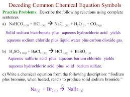 decoding common chemical equation symbols