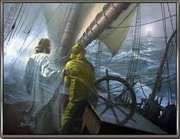 Image result for picture of Jesus guiding the ship