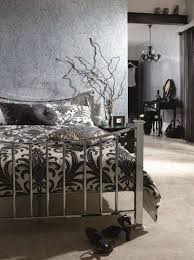 Modern Gothic Bedroom Modern Gothic Bedroom Decor With Silver Bed And Wallpaper
