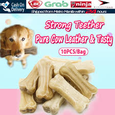 10pcs/set <b>Pet Dog Toy</b> Chews Toys Leather Cowhide Bone <b>Molar</b> ...