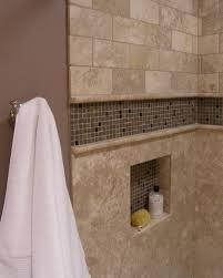 bathroom niches: accent tiled niche traditional bathroom traditional bathroom accent tiled niche traditional bathroom