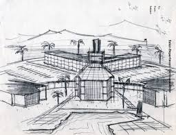 UNLV Libraries Digital Collections Architectural sketch of the