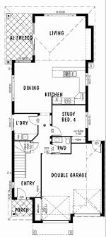 small house plans with a under single garage awesome narrow lot house plans single story duplex