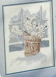 Brown Bagger Flower Bouquet Cross Stitch Pattern Chart From