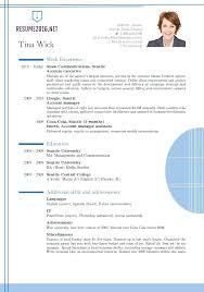 Resume Format Standard Updated Resume Format Standard Resume Format ...