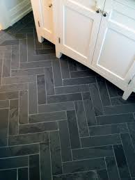 cutting marble tiles into a brick pattern for a herringbone look is an inexpensive way to create a high impact pattern slate tile floor from pmh 2016