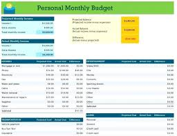Personal Budget Spreadsheet Template Wedding Excel Personal