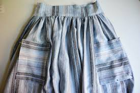 Skirt Patterns With Pockets Custom Gathered Midi Skirt With Patchwork Pockets WeAllSew