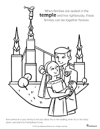 Small Picture A Happy Family At The San Diego Temple Primary Coloring Page With